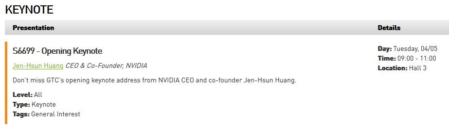 Nvidia GTC 2016 Jen-Hsun Huang Keynote