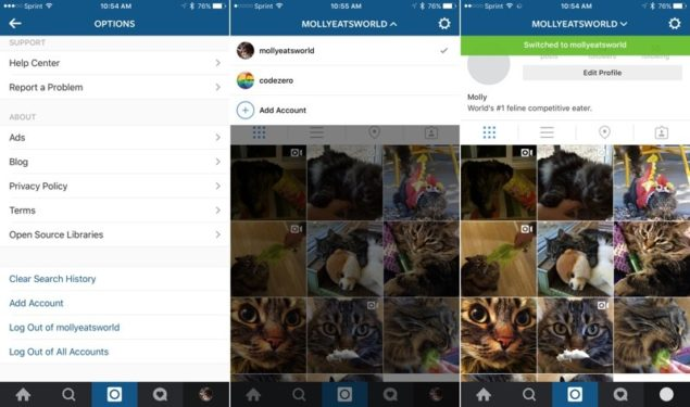Instagram Multiple Account Support Coming to iOS