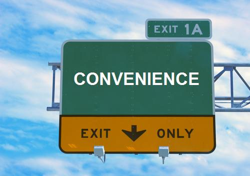 This way for convenience!