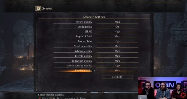 Dark Souls 3 PC Graphics Options