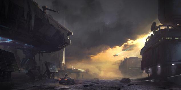 Halo 5 Warzone Map Skimrish Concept Art
