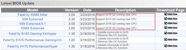 Intel Broadwell-E Launch Q2 2016