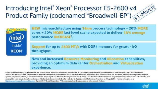 Intel Broadwell-EP Launch