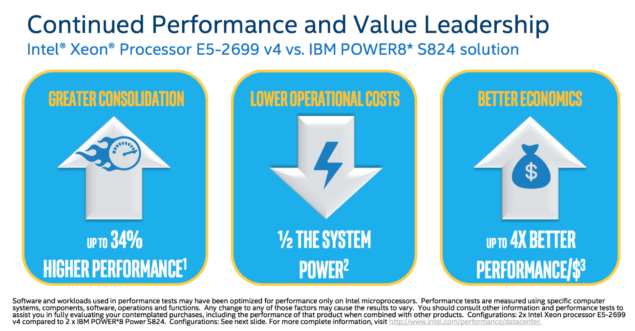 Intel Broadwell-EP Xeon E5-2600 V4_IBM Power8