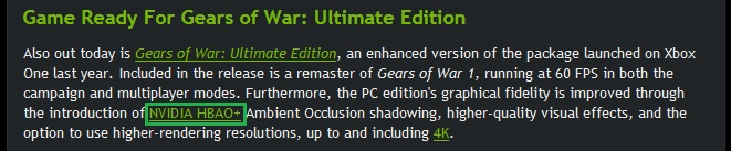 NVIDIA HBAO gears of war