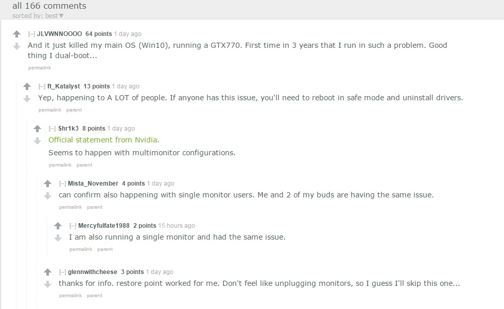 Reddit Users Nvidia Drivers