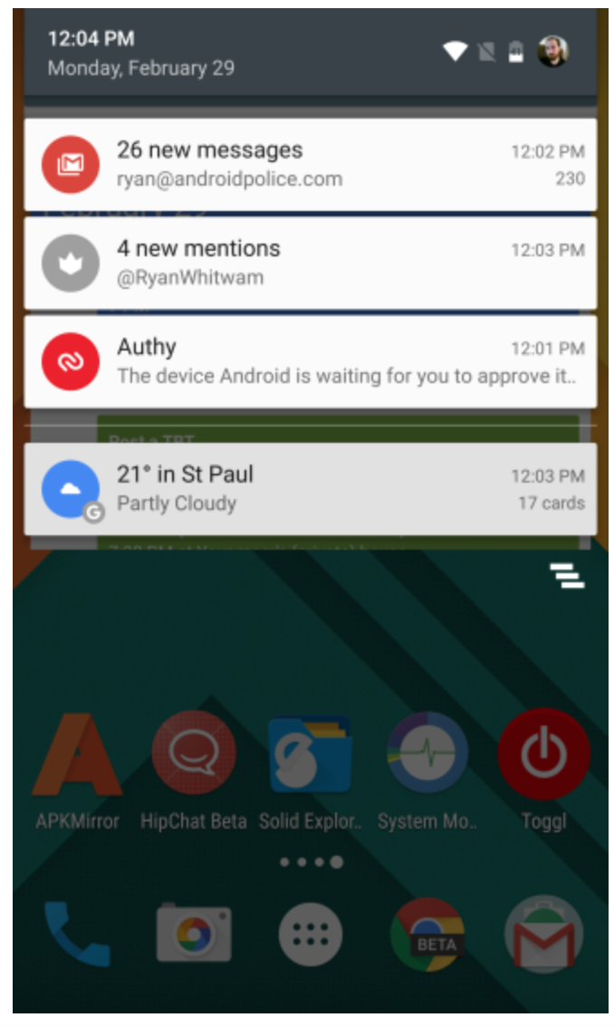 Notifications (Android Marshmallow)