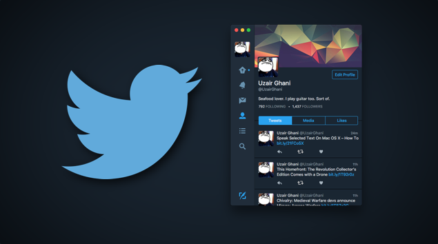 Twtiter dark theme main