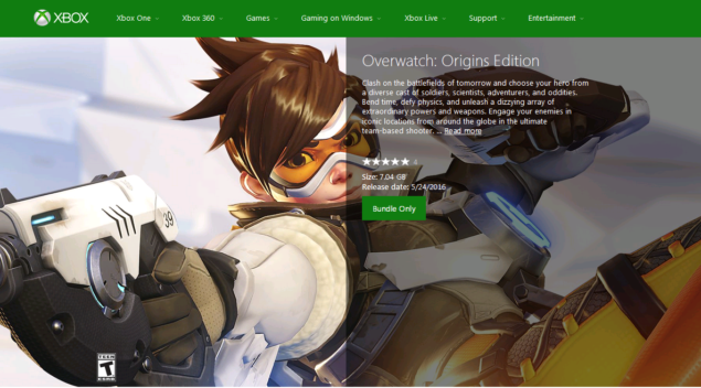 Overwatch file size revealed via Xbox Store