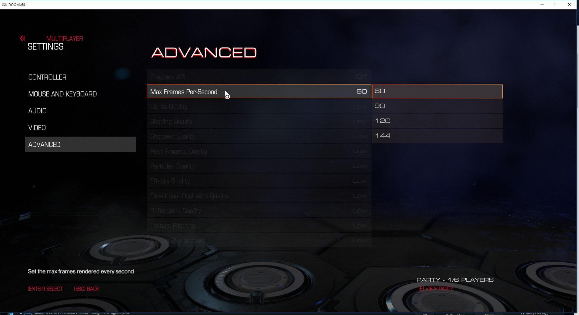 Doom Beta Locked Advanced Settings Revealed Includes Max