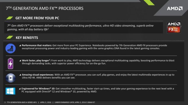AMD Bristol Ridge APU Notebook_Features