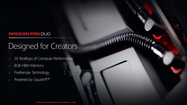 AMD Radeon Pro Duo Graphics Card_Features
