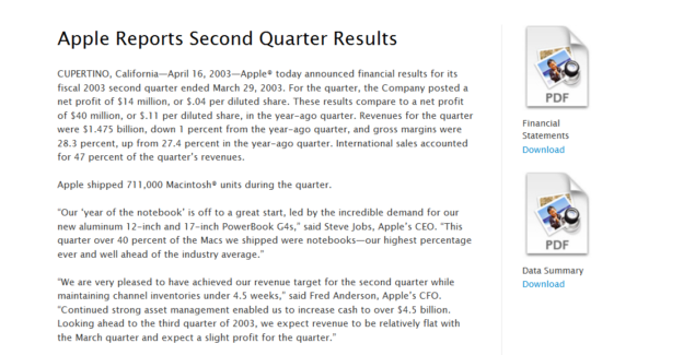Apple-Q2-2003-Earnings