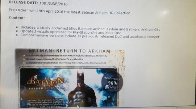 Arkham Leak