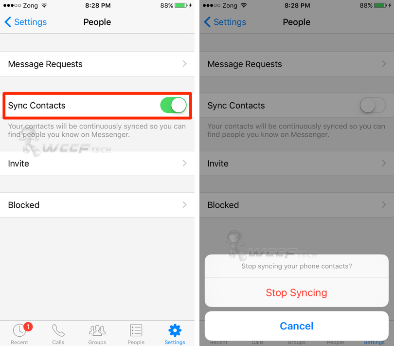 sync facebook contacts iphone stop messenger from syncing your iphone contacts 9475