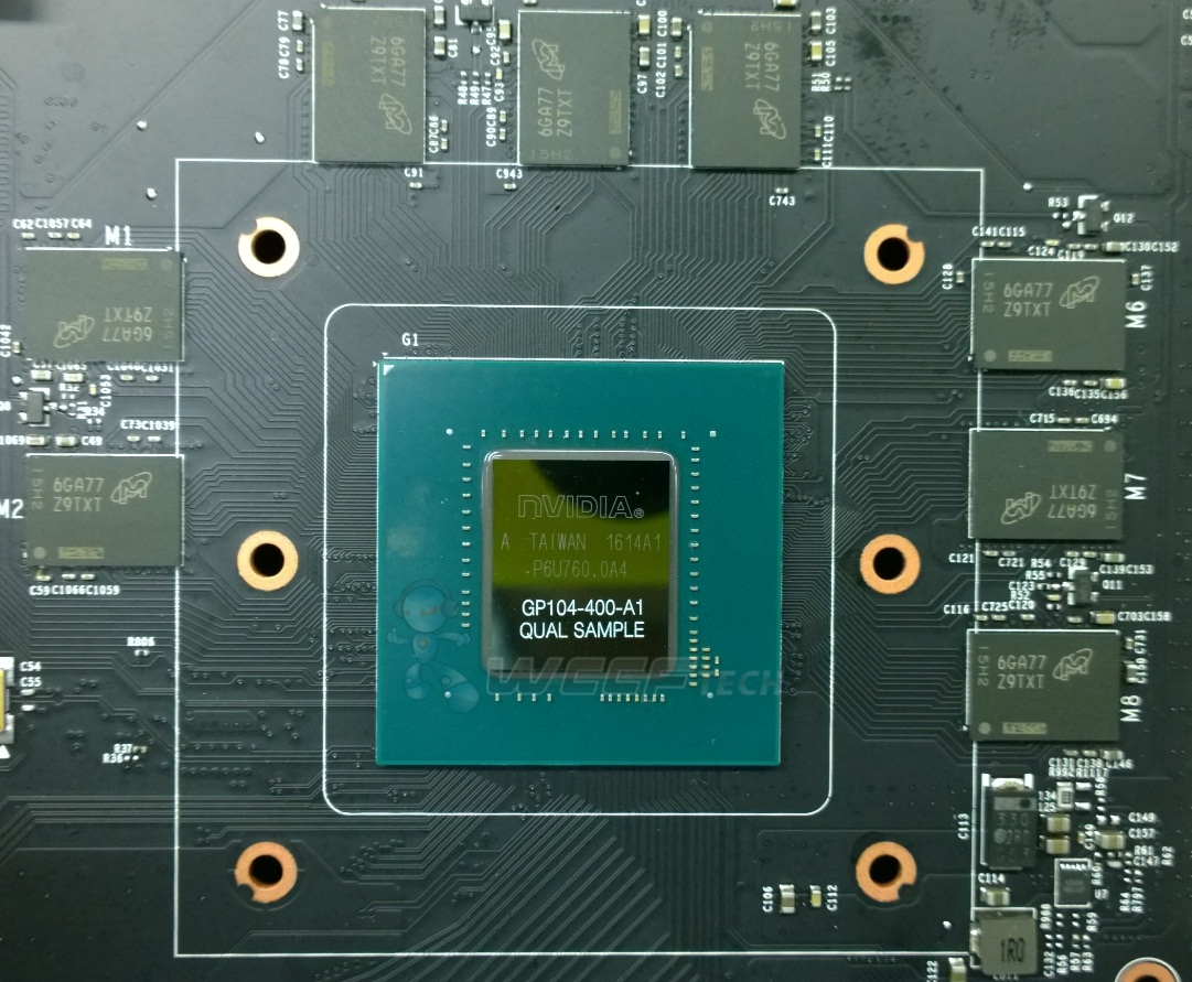 NVIDIA's Full Fat Pascal GP104 GPU Pictured With GDDR5X Memory