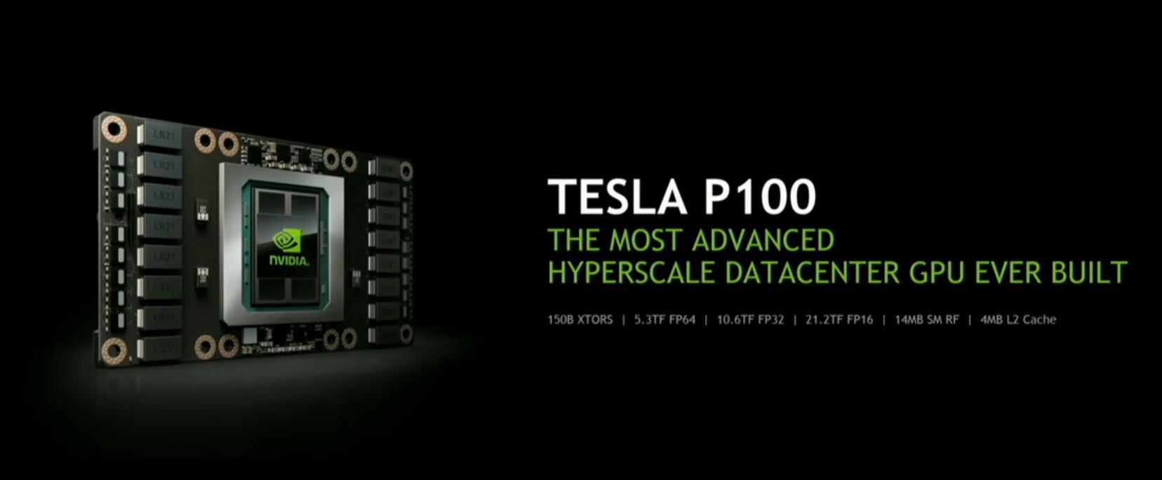 Nvidia Tesla P100 accelerator