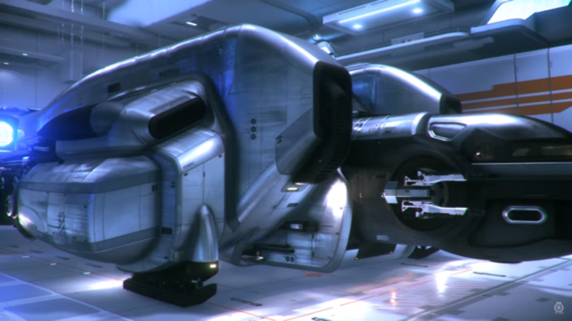 The MISC Starfarer, in hangar now...