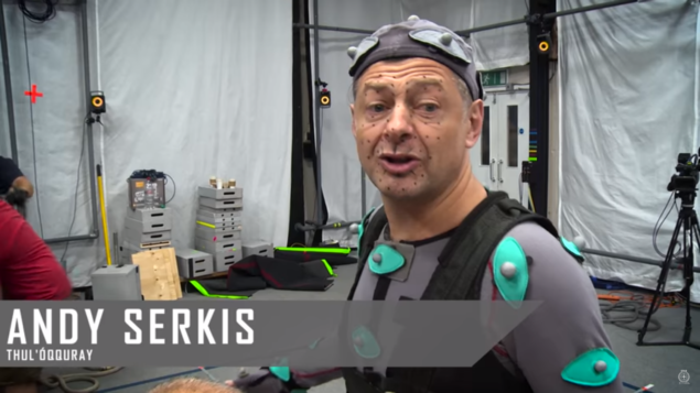 """Andy Serkis, or """"my mate Thul"""" as he's also known..."""