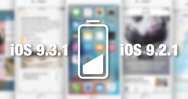 iOS 9.3.1 vs ios 9.2.1 battery life comparison
