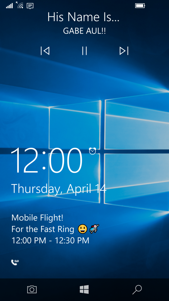 Windows 10 Mobile 14322