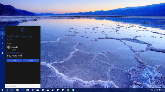send SMS from Windows 10 PC