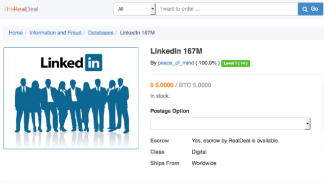 linkedin hacked dark web