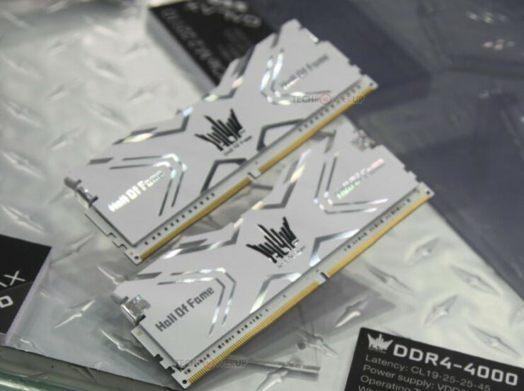 GALAX Hall Of Fame Gaming RAM Is Able To Achieve A Phenomenal Frequency Of 4,000MHz