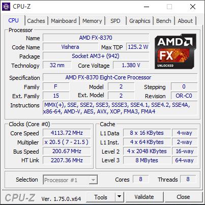 FX-8370 CPUZ