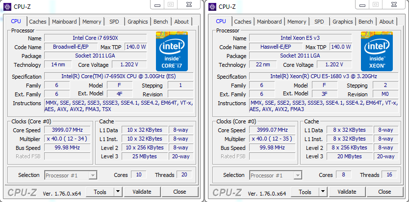Intel Broadwell-E Core i7-6950X vs Core i7-5960X Benchmark Results