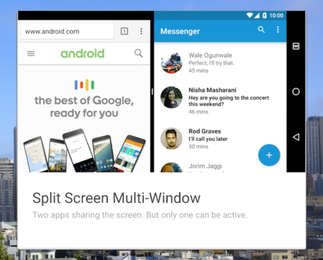 android n split view