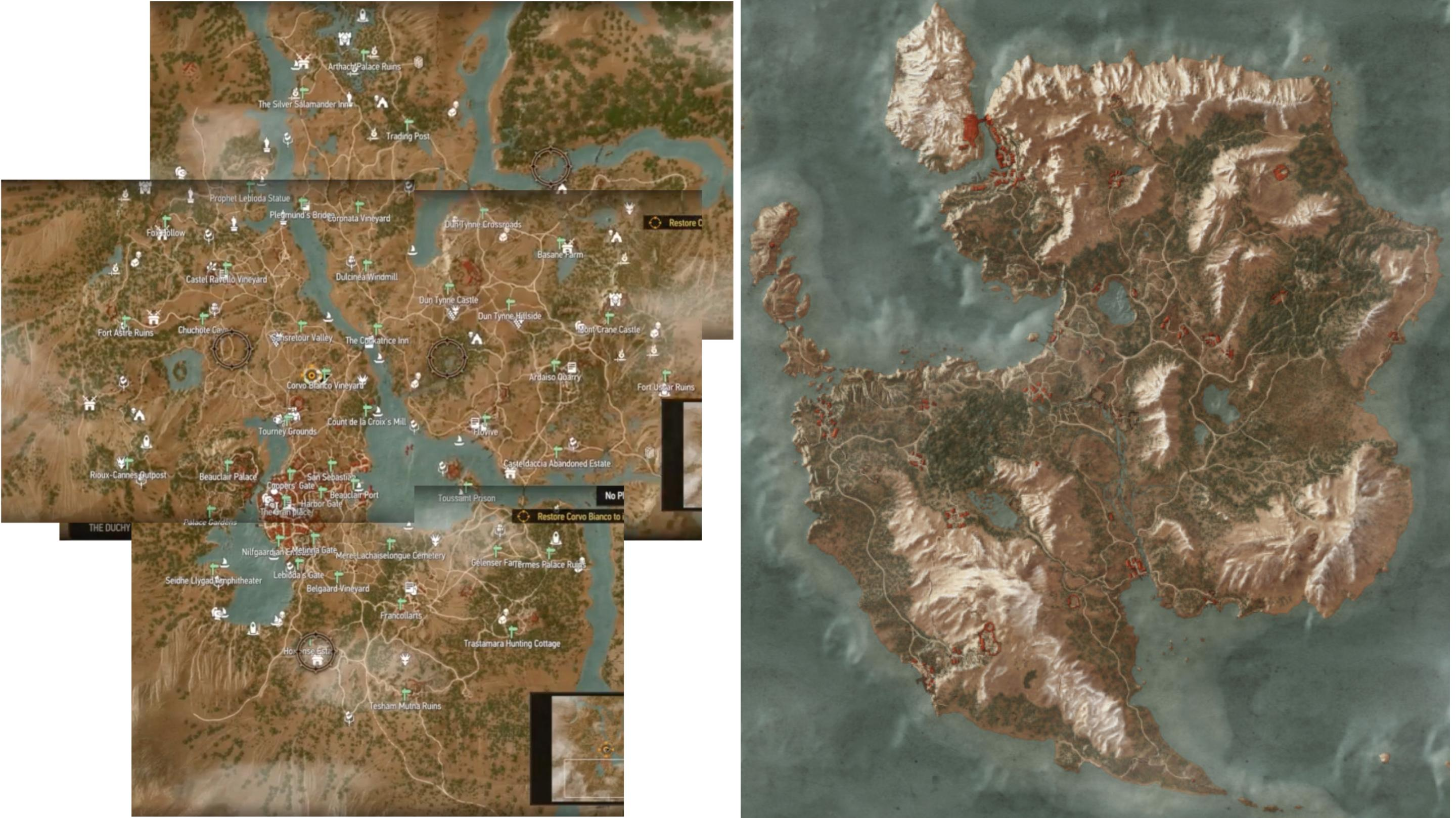 The Witcher 3 Blood And Wine Full Toussaint Map, Manticore Gear Set
