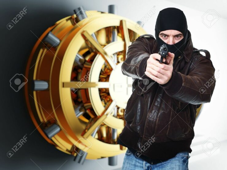 bank heist, steal from bank