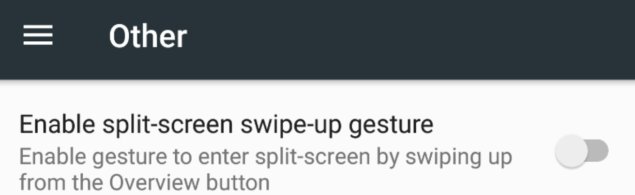 enable split screen in android n