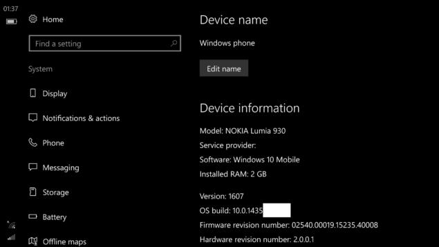 Windows 10 Redstone 1