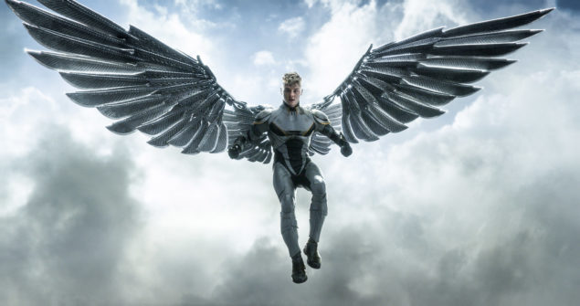 190_mk_1050_v1454_left.1063 – Angel's (Ben Hardy) mutation gave him large wings and the ability to fly. Angel's agility, strength and reflexes make him a lethal hand-to-hand combatant. Photo Credit: Courtesy Twentieth Century Fox.