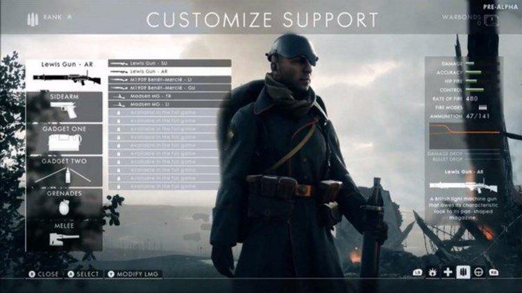 Battlefield 1 customization menu screen surfaces online - Battlefield 1 french soldier ...