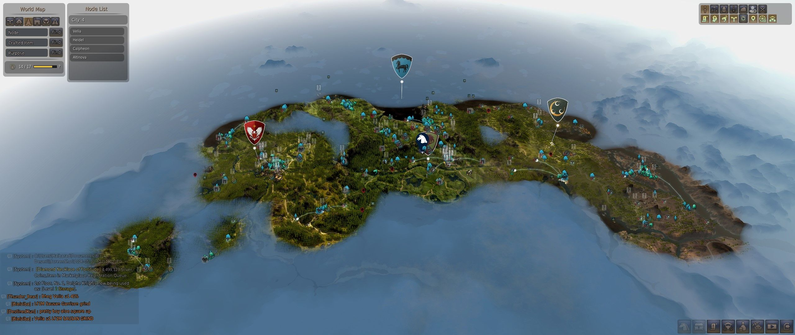 Black desert online review the power of great updates black desert online 02 world map gumiabroncs Choice Image