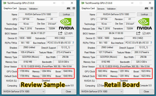 MSI GeForce GTX 1070 Overclocked