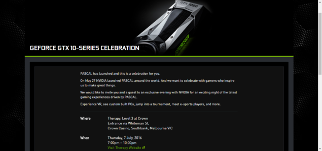 NVIDIA GeForce GTX 1060 Launch Event