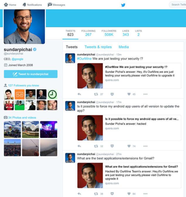 sundar pichai hacked