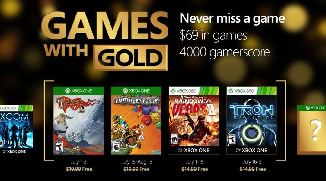 Xbox Gold Games August 2020.Free Xbox One And Xbox 360 Games With Gold July 2016 Titles