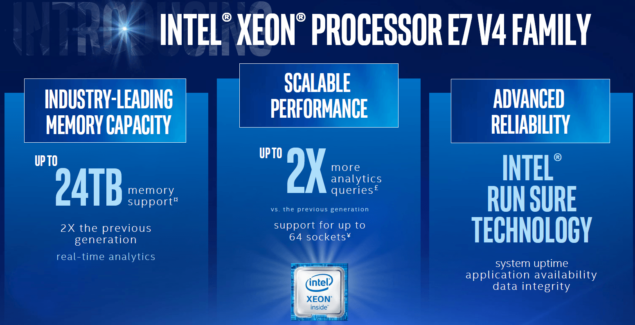 Xeon E7 v4 Specifications
