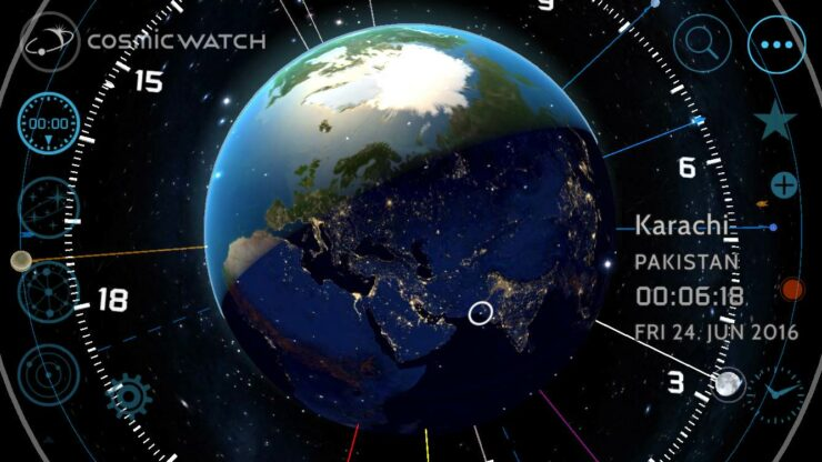 Timekeeping with Cosmic Watch App