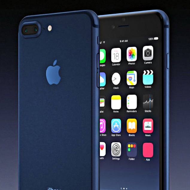 IPhone 7 IPhone 7 PRO Concept In Deep Blue