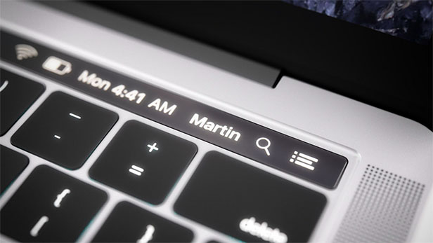 macOS Sierra MacBook Touch Bar
