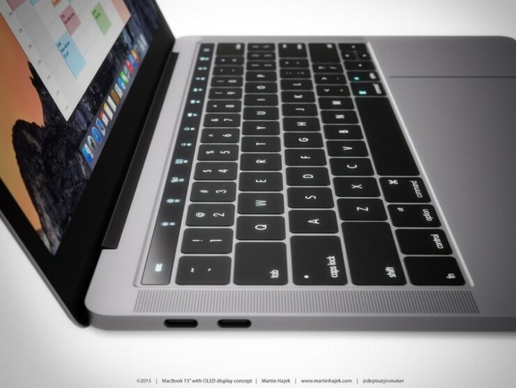 MacBook Pro 2016 Concept Shows What A Dynamic OLED Touch Panel Could Appear On The Machine