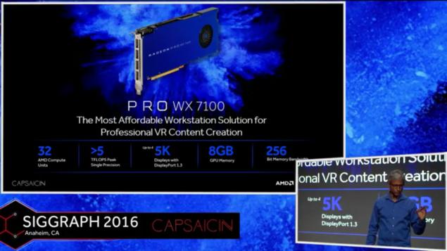AMD Radeon Pro WX 7100 Specs