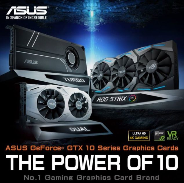 ASUS GeForce GTX 1060 Graphics Card Lineup