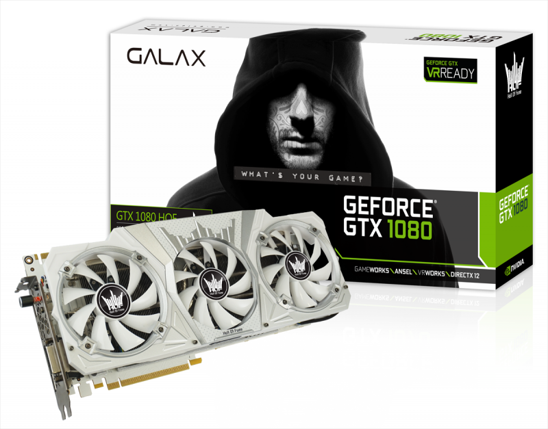 GALAX GTX 1080 HOF Edition Sports A Stunning White PCB With Clock Speeds Way Higher Than Stock Models